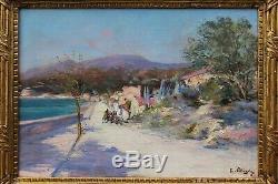 Raymond Allègre (1857-1933), Sea In Provence, Near Marseille, Cassis