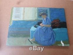 Rene Genis-1922-2004 Table / Oil-woman-paris School-workshop Bardone