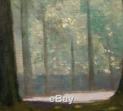 Robert Abbadie Underwood 1930 Large Oil On Canvas Close Current Nabi 70x50cm