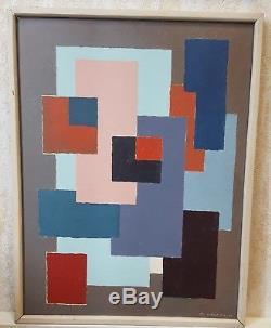 Roger Lacroix (1933 1984) Belgian School Geometric Abstraction 1968. Cubism