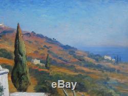 Romeo Aglietti Painting Orientalist Landscape Algeria Orientalism Alger Painter