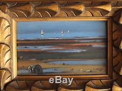 Sailboats, 1928. Painting By Eugène Bernhardt (1898-1984) Pupil Of Cormon