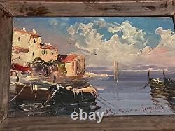 Salomon Le Tropézien, Oil On Panel, Saint-tropez, Marine