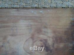 Scenery / Farm Vendée -france Old Oil On Wood Xixth