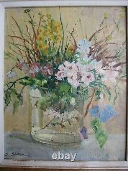 Serge Sedrac 1878/1974 Spring Floral Bouquet Belle Hsb 28 X 23 CM