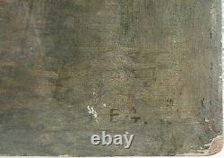 Signed E. G Painting To Identify Oil On Wood 35x26,5 Cms