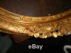 Spectacular Period Frame Regence Wood Carved Oval Standard 66 By 82 Gold
