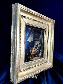 Splendide Table Ecole Flaman Peinture End 18th Following David Teners Framework