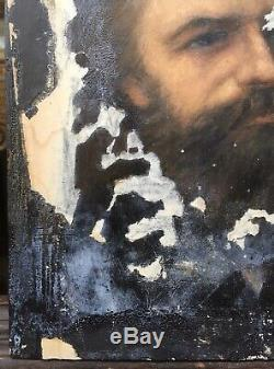 Study Table Old Bearded Man Portrait Alice Kaub-casalonga (1875-1948)