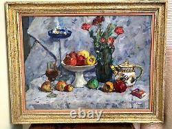 Sublime Russian School, Oil On Large Format Canvas, Titled, Signed And Dated 1990