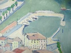 Superb Painting Pillot Lake Como Argegno Italy