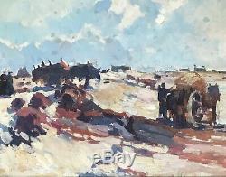 Sydney Lough Thompson Table Hst Painting 1930 Marine Seaside Concarneau