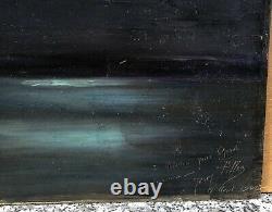 Table Ancient Oil Landscape Sea Twilight Sky Night Moon Josey Pillon 1902