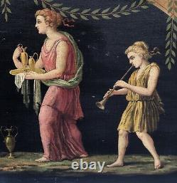 Table Ancient Oil Raphael Poggi Scene Neo Pompeian Type Pompei XIX Frame