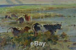 Table Cows Former Seafront Arcachon Cap Ferret 19th Gaston Guignard