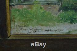 Table Former Eugène Chaperon Landscape Rosny Bustling Waterloo History 1881 X 2