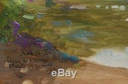 Table French Impressionist School Chaville Landscape Pond Lake Ursine France