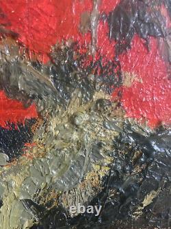 Table Hsp Japonizing Still Life Expressionist Signed Jm Richard 1957