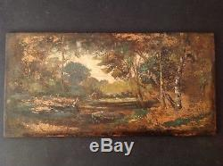 Table Impressionism Farmers Clairière Oil Taste Adolphe Monticelli (n ° 2)