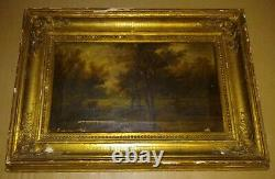 Table Landscape 18th Paint Oil On Panel 62x44cm