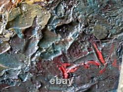 Table Oil On Orientalist Panel, 19th Oil Landscape Signed