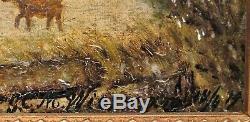 Table Oil On Wood Dutch School Scene In Winters Era Late Nineteenth Century