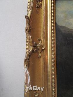 Table Oil On Wood German School Signed Richter Dated 1856 Breitenstein