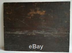 Table Oil Painting On Wood Dutch School Animal Signature Illegible