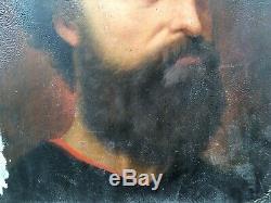 Table Old Bearded Man Portrait By Alice Kaub-casalonga (1875-1948)