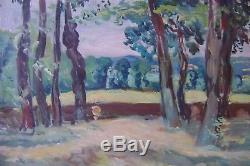 Table, Old, Landscape With Trees, Lucien Mainssieux