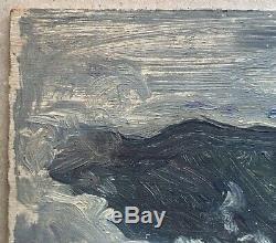 Table Old Oil Landscape Sea Waves Heaven Jules-alexandre Grün (1868-1938) 1900