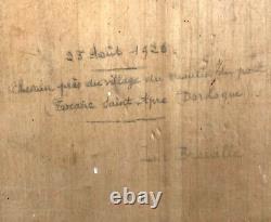 Table Old Oil On Panel Foret Framework Montparnasse Wood Sculpting
