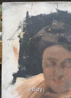 Table Old Study Portrait Alice Kaub-casalonga (1875-1948) Xixe