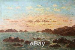 Table Orientalist Orientalist Saulgeot Algeria Sunset Early Twentieth