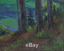 Table Panel Landscape Oil Around 1920 Signed F Ehrlich