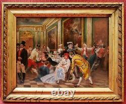 Table Spanish School Scene Banquet Oil Landscape Spain Spanish Art Painter