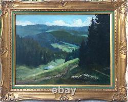 Table Vallée Du Doubs Hsp Signed, Circa 1950 Signed - Frame