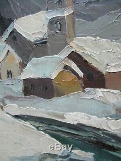 Table Winter Landscape Oil Painting Tignes Nancie Female Lucien Poignant