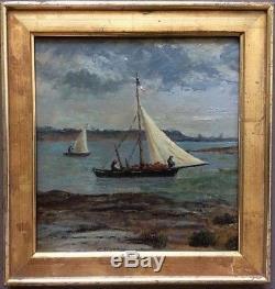 Table XIX ° Oil On Panel Orientalism Painter Travelers Marine