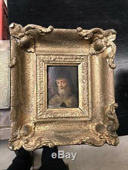 Table XVIII On Wood Miniature Portrait Of King Mage