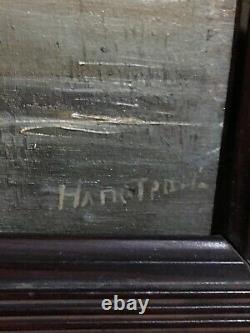 Table Xixeme Marine Oil On Wood Signed