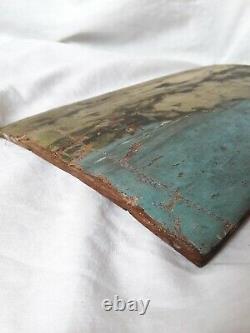 Tableau Ancienne Oil Impressioniste XIX Signed Marine Landscape Beach To Restore