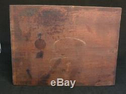 Tableautin Oil On Panel Scene Of Gender In Sous Bois Monogram A Identify