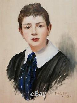 Tancred Bastet Painter Grenoble Painting Portrait Young Boy Child Oil