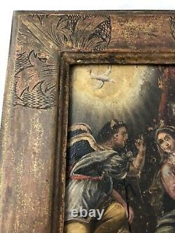 The Annonciation Painting 17th Century - Frame