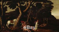 The Good Samaritan. Flemish Painting From The Xvith Century. Oil On Wood