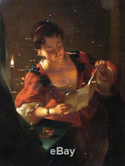The Reading Light. Beautiful Uv Eighteenth. Workshop & Suiveur Of Jean Raoux 1677-1734