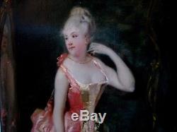 Theodore Levigne 1848-1912 Young Elegante Ds The Watteau Gout Lyonnaise School