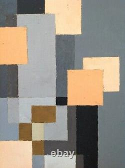 Thilo Maatsch (1900-1983) Table Hst Oil 1977 Abstraction Constructivism