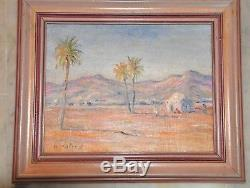 Tunisia / Radès. Bruno. Retaux Orientalist Paint Oil On Wood